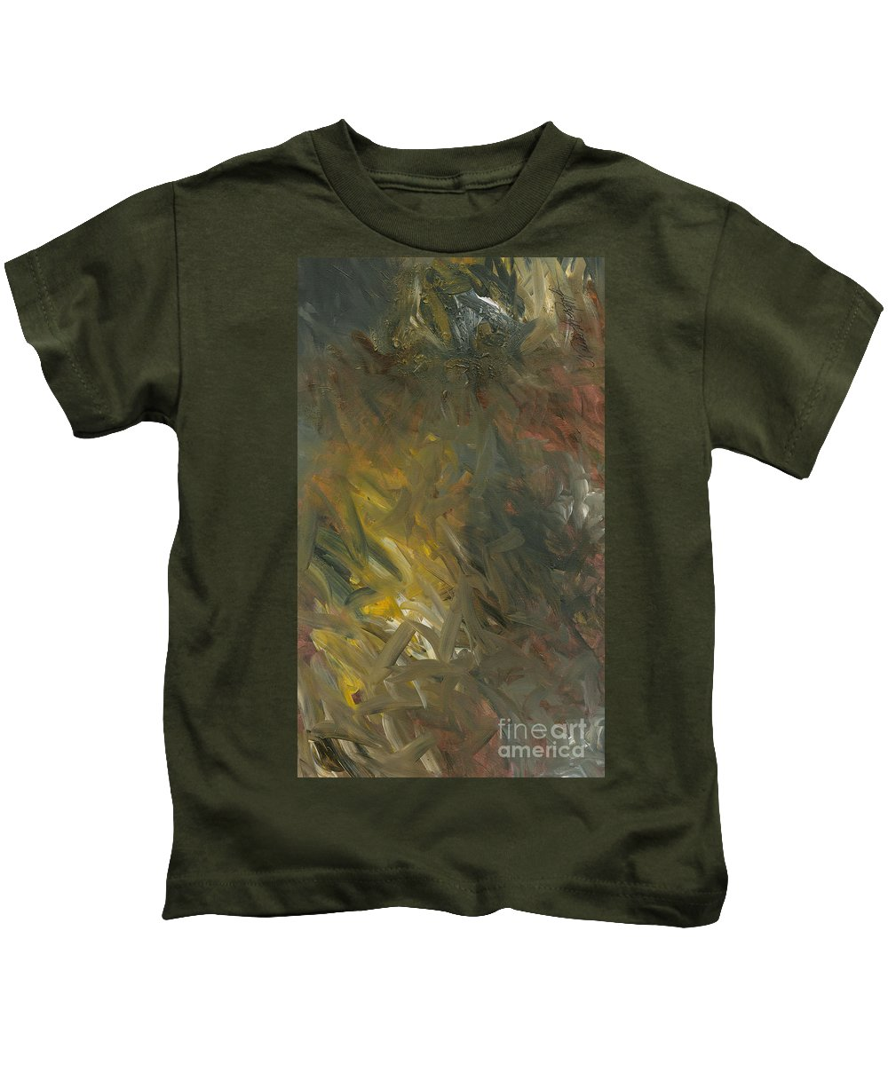 Gold Kids T-Shirt featuring the painting Hope by Nadine Rippelmeyer