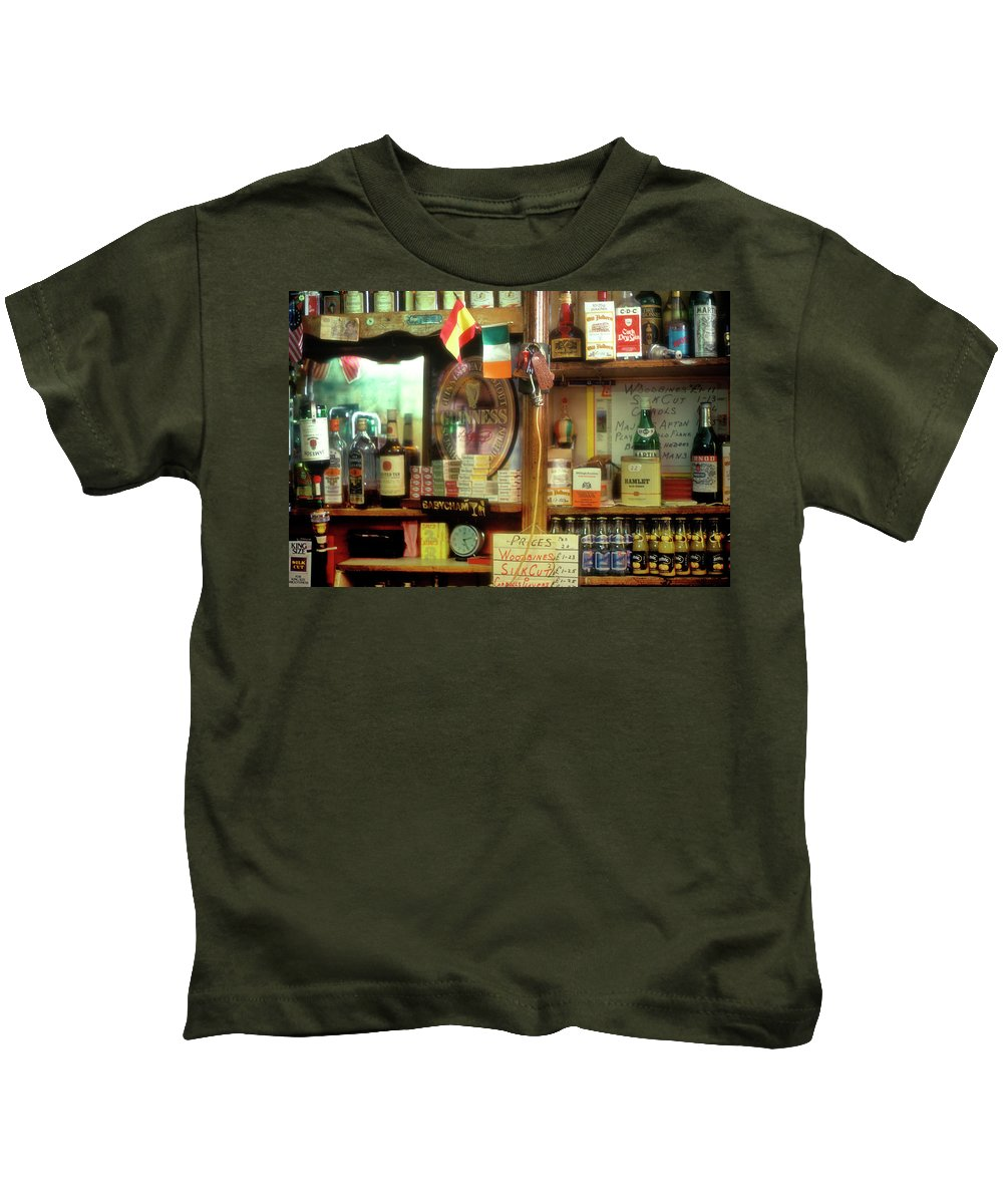 Europe Kids T-Shirt featuring the photograph Irish Pub by John Greim