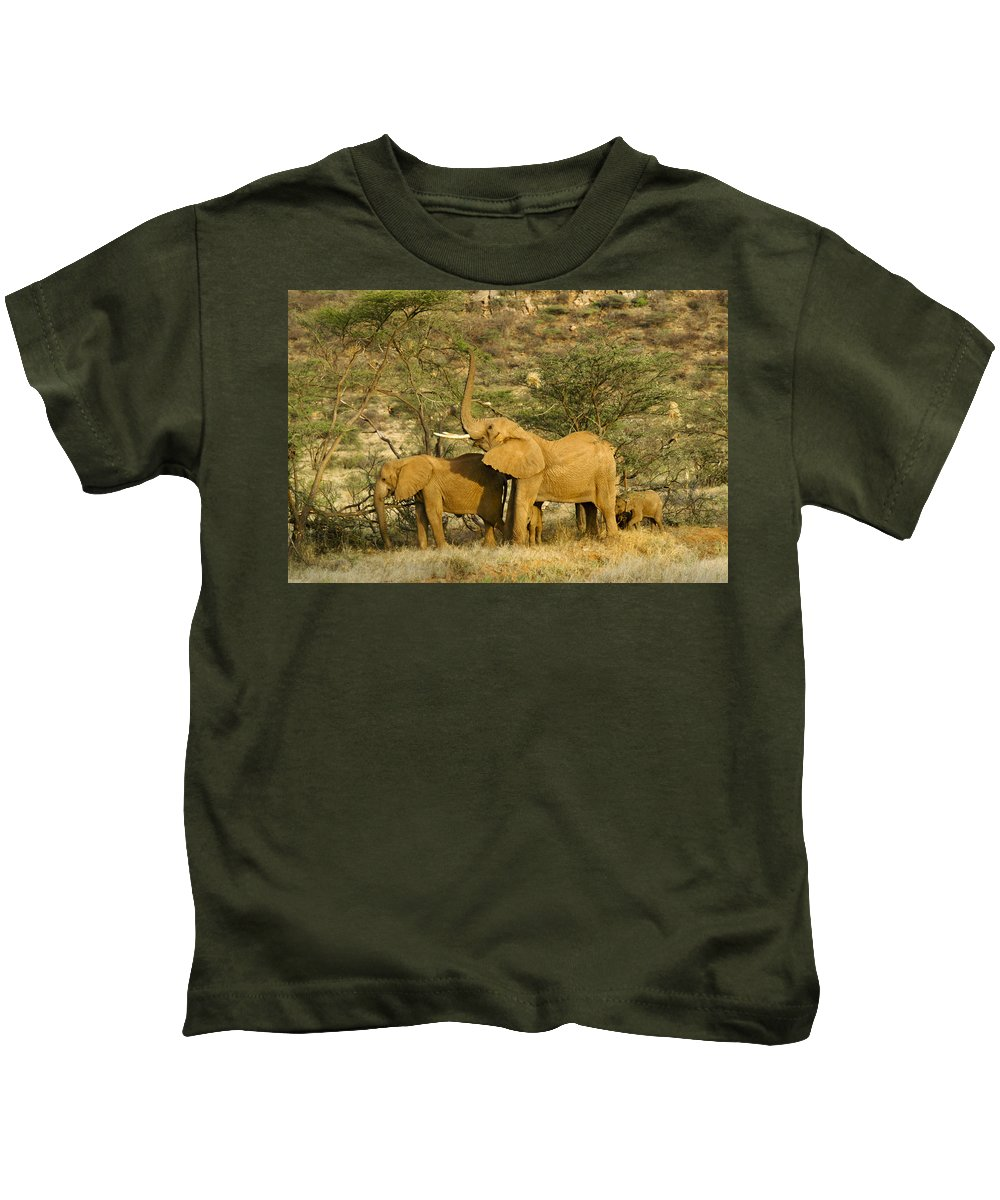 Africa Kids T-Shirt featuring the photograph It's A Stretch by Michele Burgess