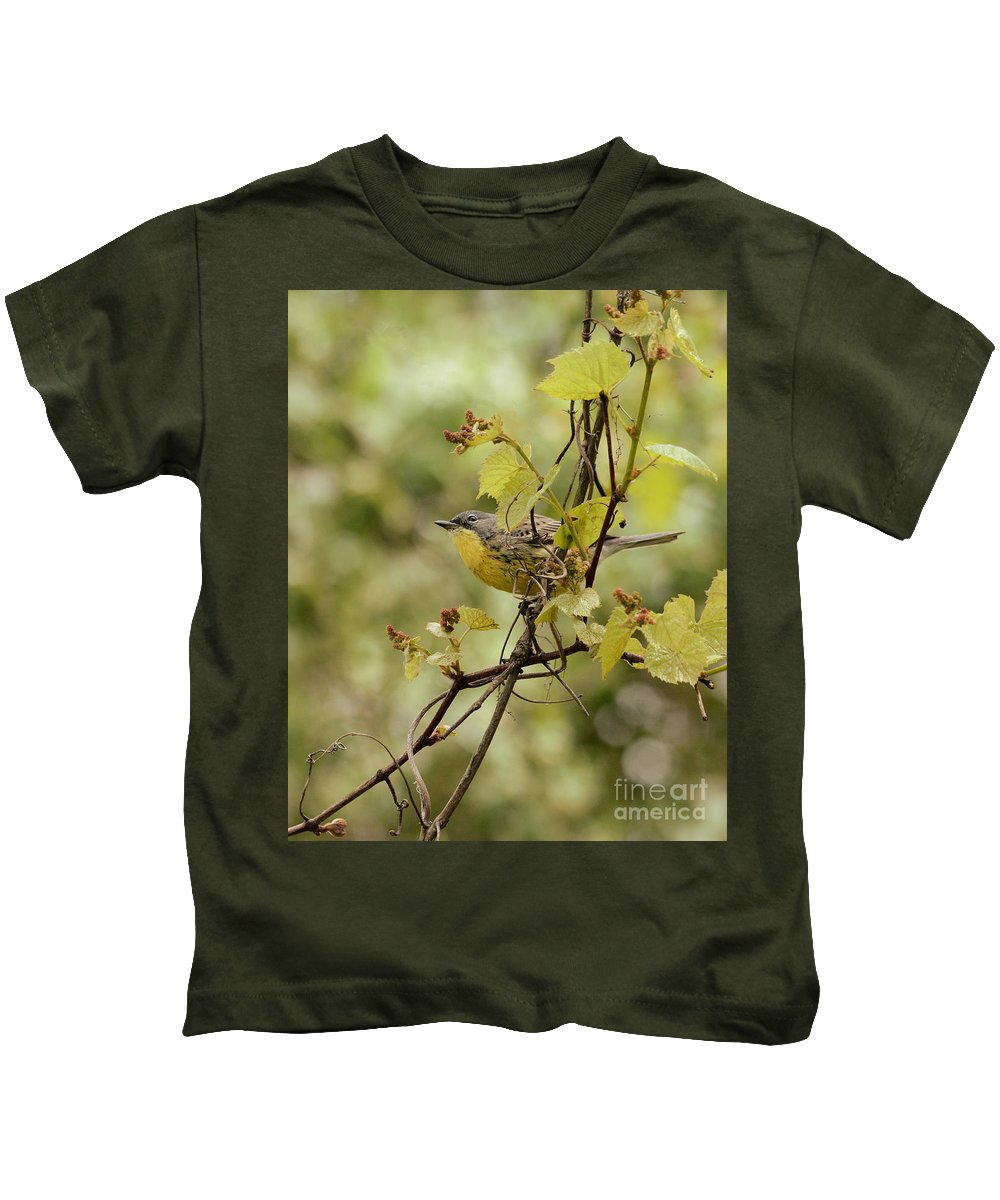 Kirtlands Kids T-Shirt featuring the photograph Kirtland's Warbler by Charles Owens