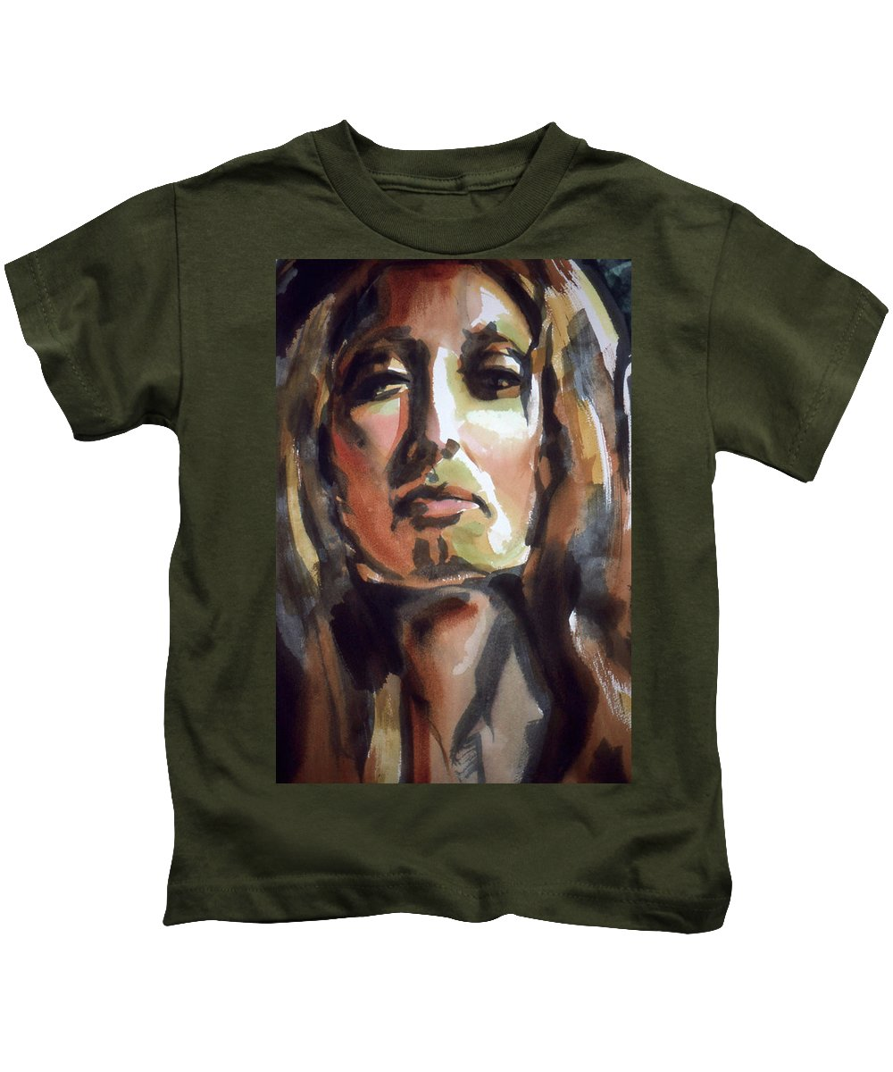 Lady Of The Lake Kids T-Shirt featuring the painting Lady Of The Lake by Lance Miyamoto
