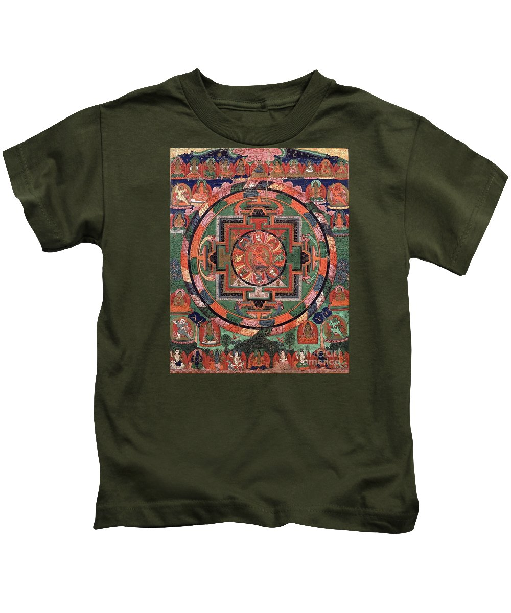 Witchcraft Kids T-Shirt featuring the digital art Mandala by Frederick Holiday