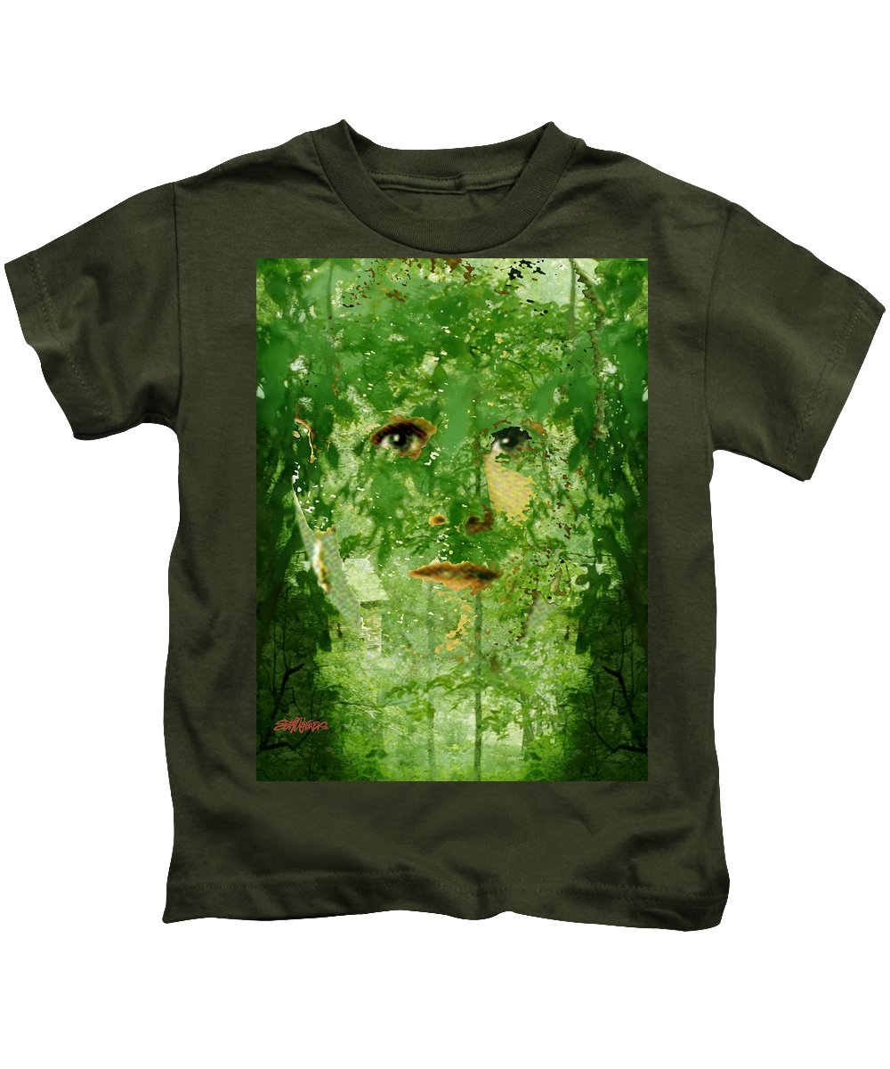 Lady Kids T-Shirt featuring the digital art Mother Nature by Seth Weaver