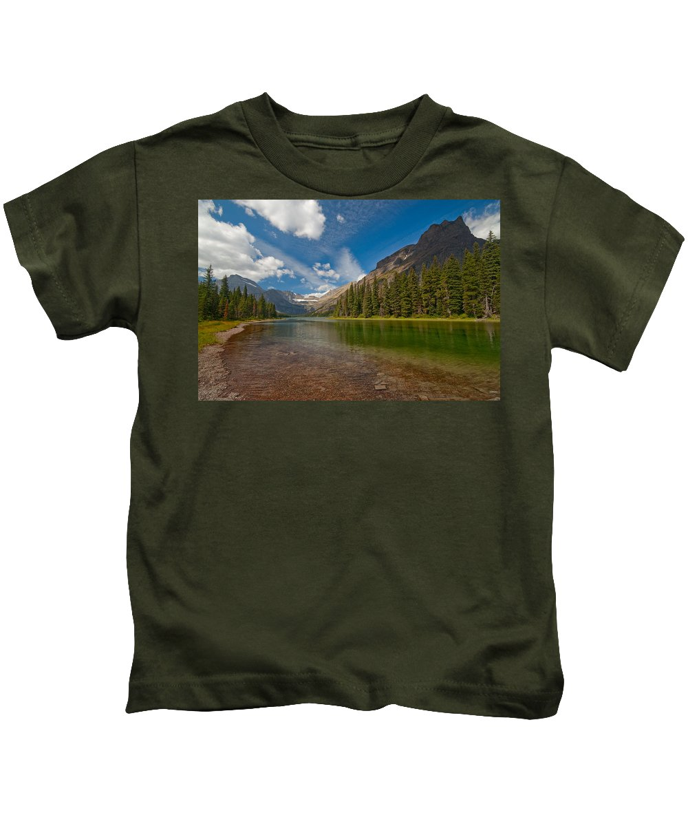 Nature Kids T-Shirt featuring the photograph Moutain Lake by Sebastian Musial