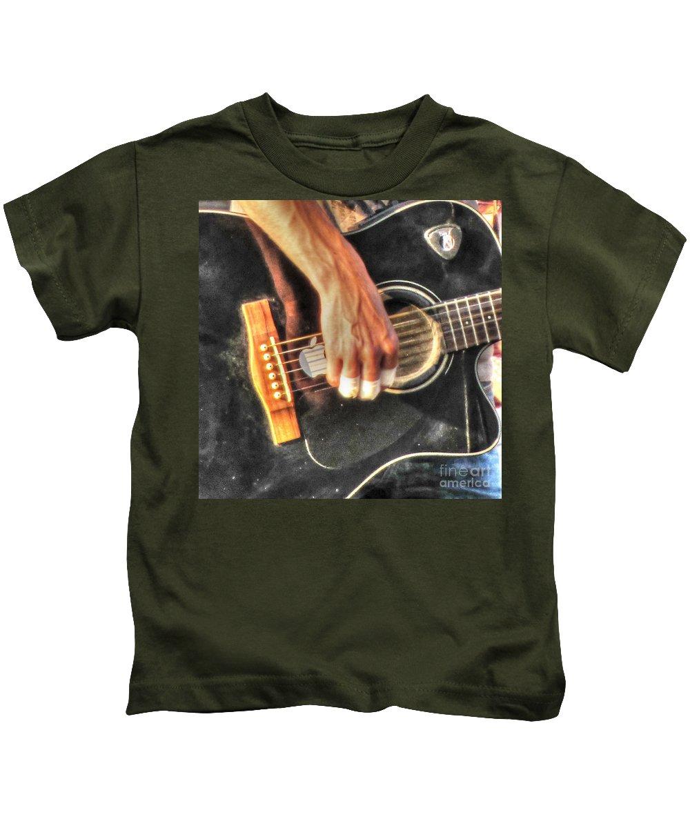 City Kids T-Shirt featuring the pyrography Musikant by Yury Bashkin