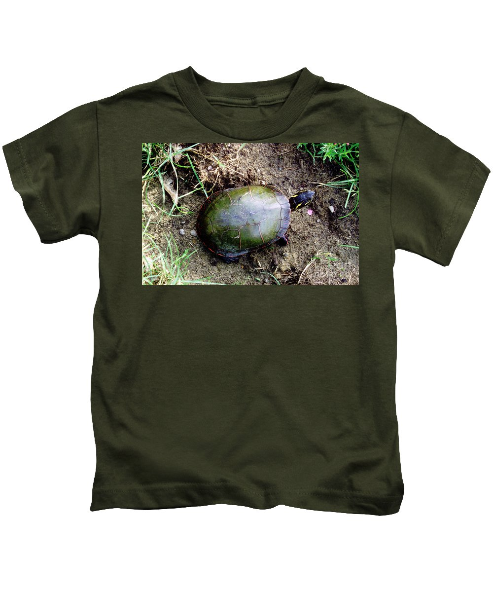 Animal Kids T-Shirt featuring the photograph Painted Turtle by Ted Kinsman