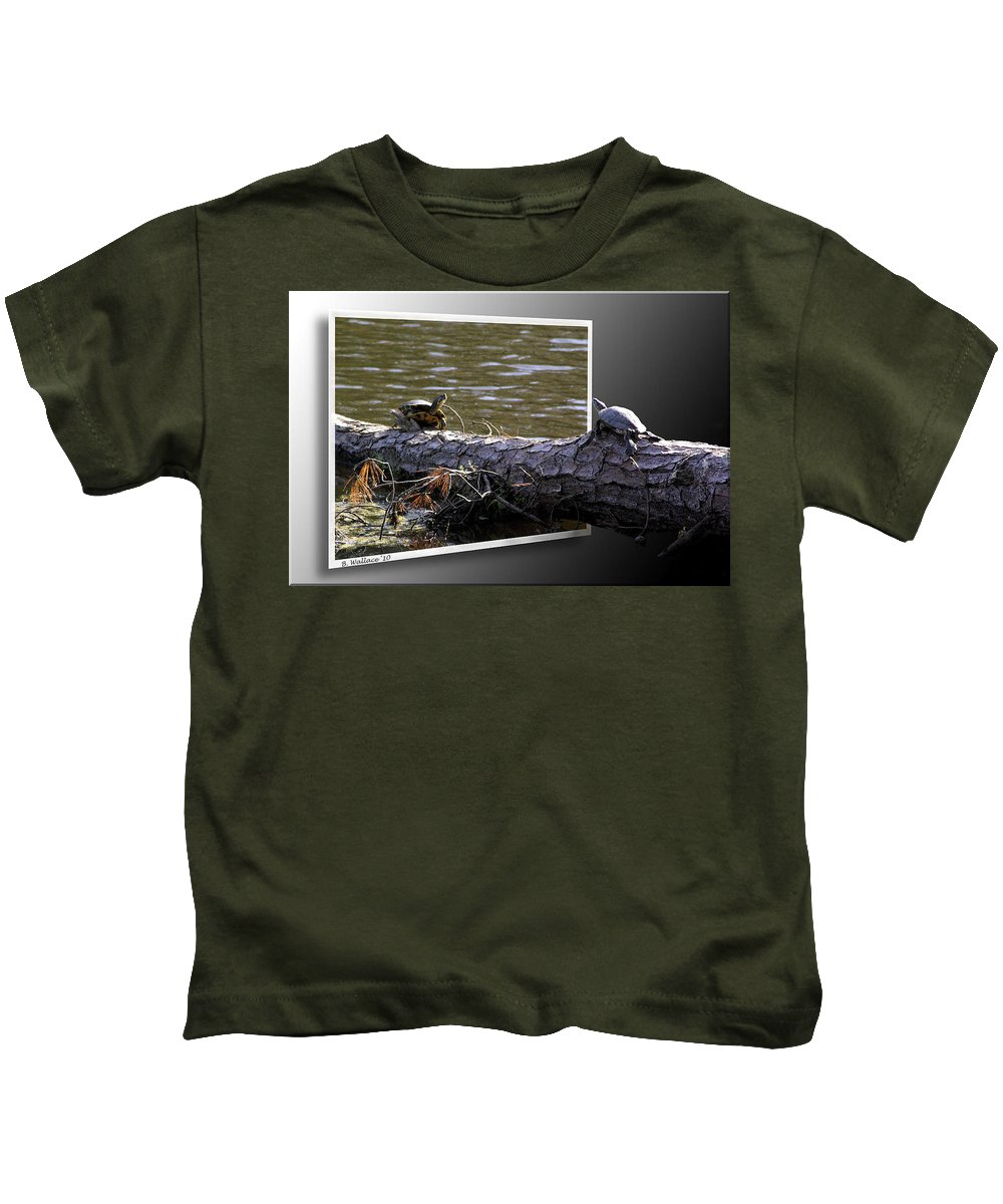 2d Kids T-Shirt featuring the photograph Playing Chicken by Brian Wallace