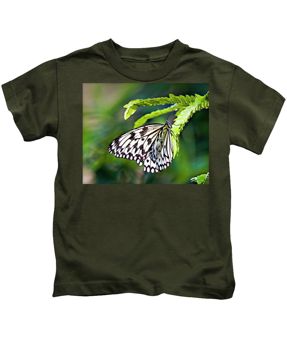 Butterfly Kids T-Shirt featuring the photograph Rice Paper Butterfly 7 by Walter Herrit