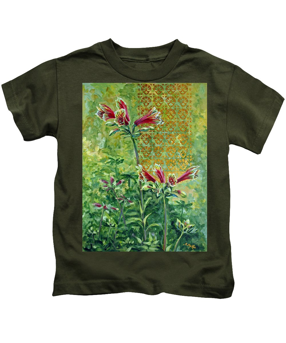 Acrylic Kids T-Shirt featuring the painting Roadside Discovery by Suzanne McKee