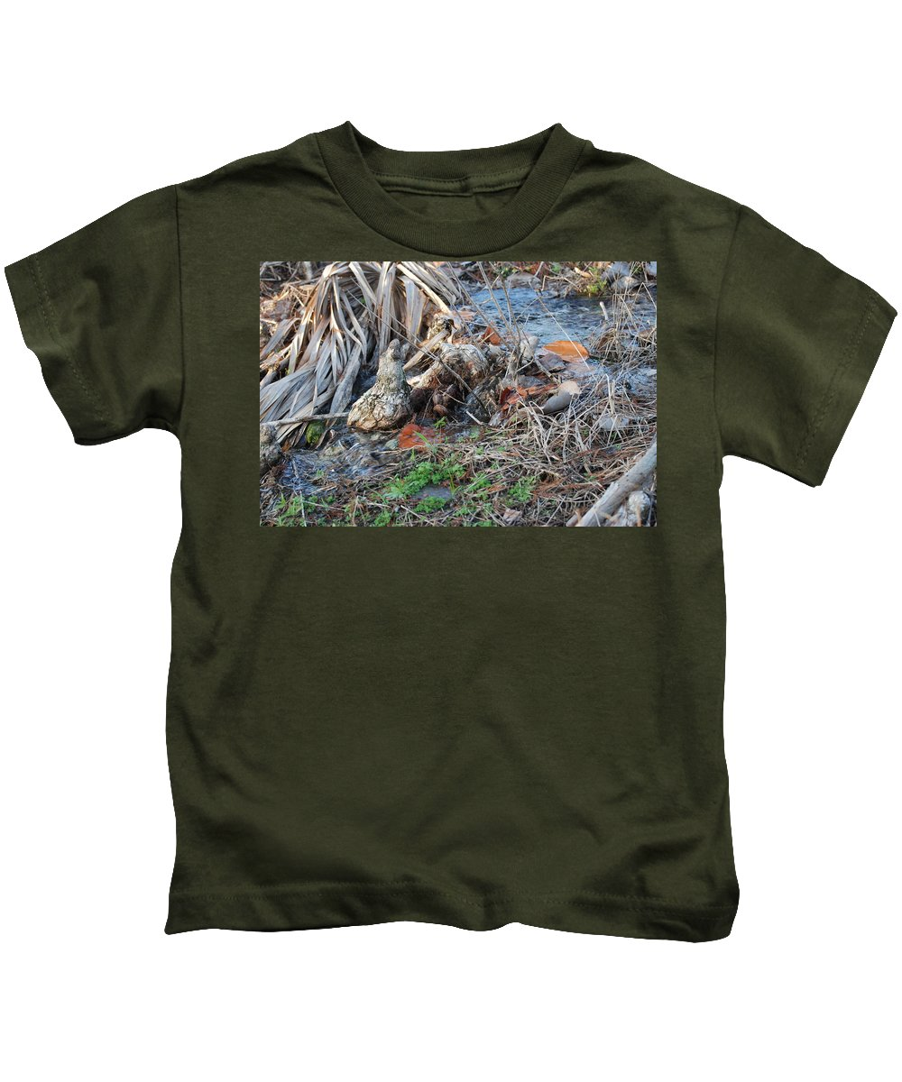 River Kids T-Shirt featuring the photograph Running Water by Rob Hans