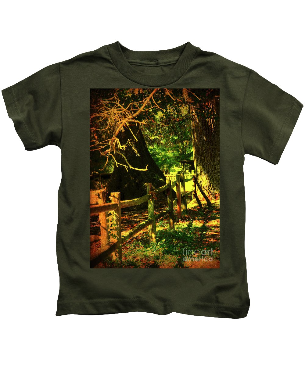Fence Kids T-Shirt featuring the photograph Silence by Susanne Van Hulst
