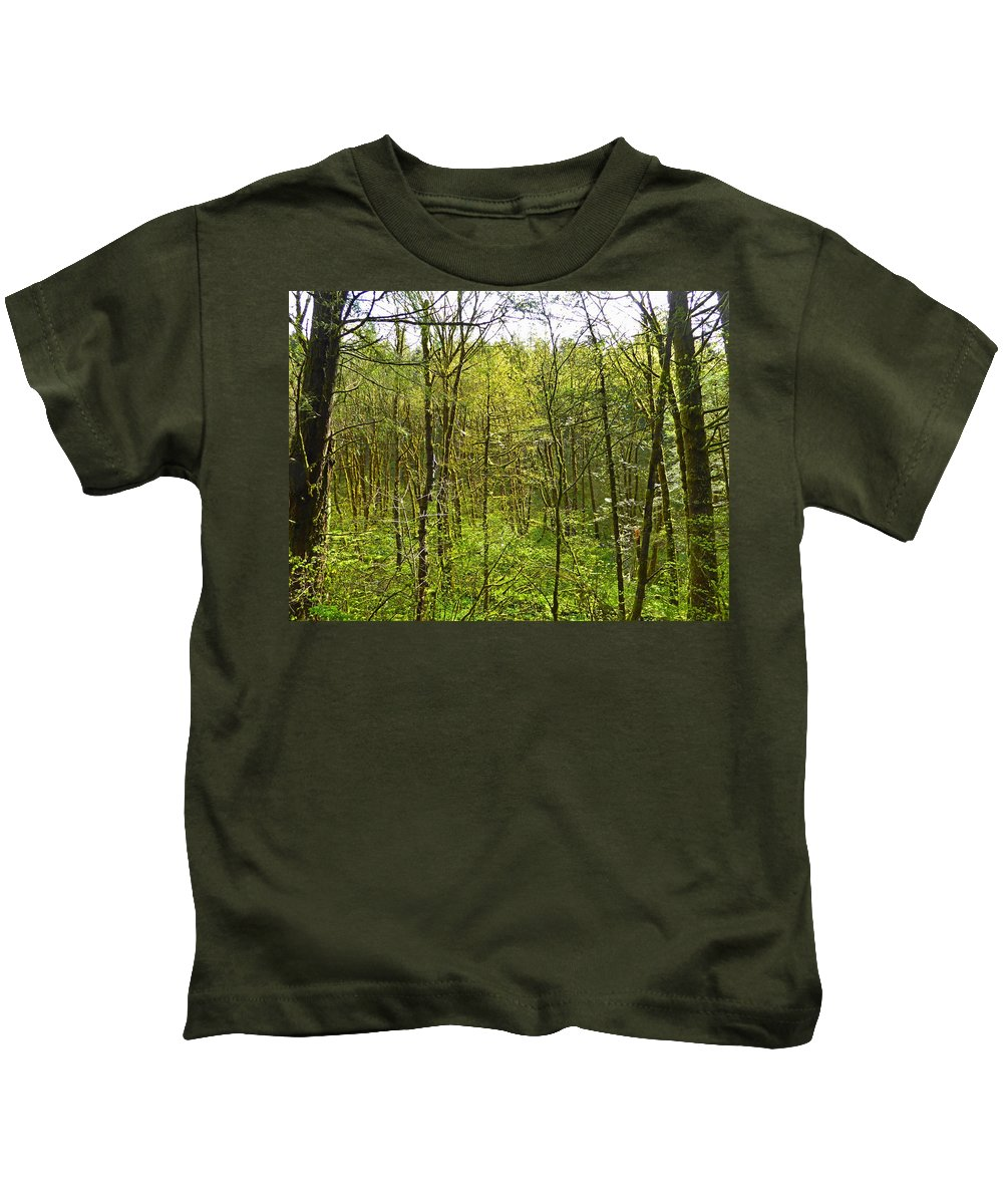 Hamilton Mountain Kids T-Shirt featuring the photograph Spring In The Gorge by Mark Miskiewicz