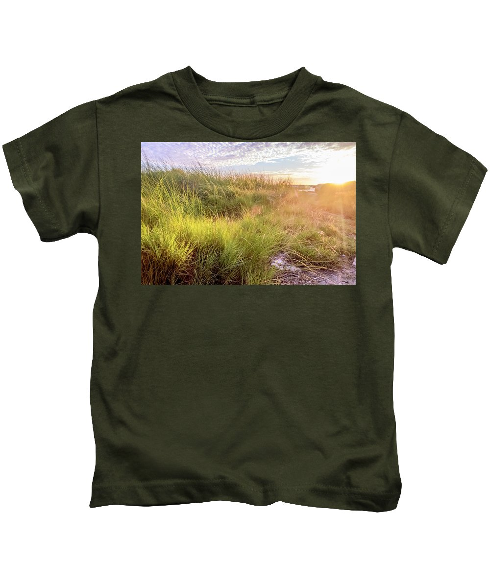 Sunrise Kids T-Shirt featuring the photograph Sun Rays by Leticia Latocki