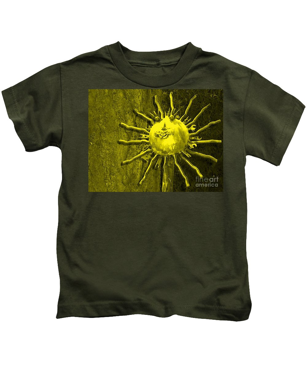 Sun Kids T-Shirt featuring the photograph Sun Tool by Debbi Granruth