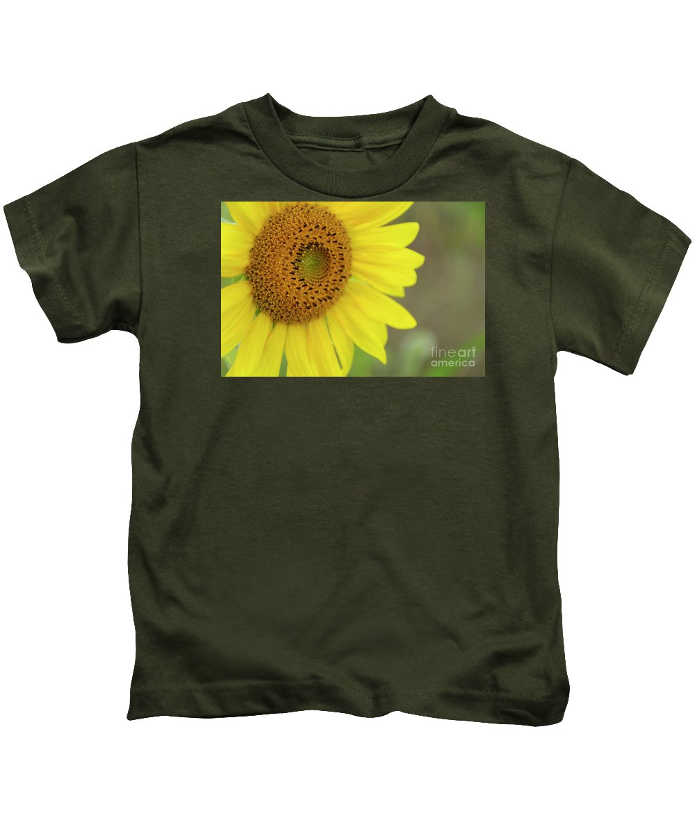 Bee Kids T-Shirt featuring the photograph Sunflower by Debra Fedchin