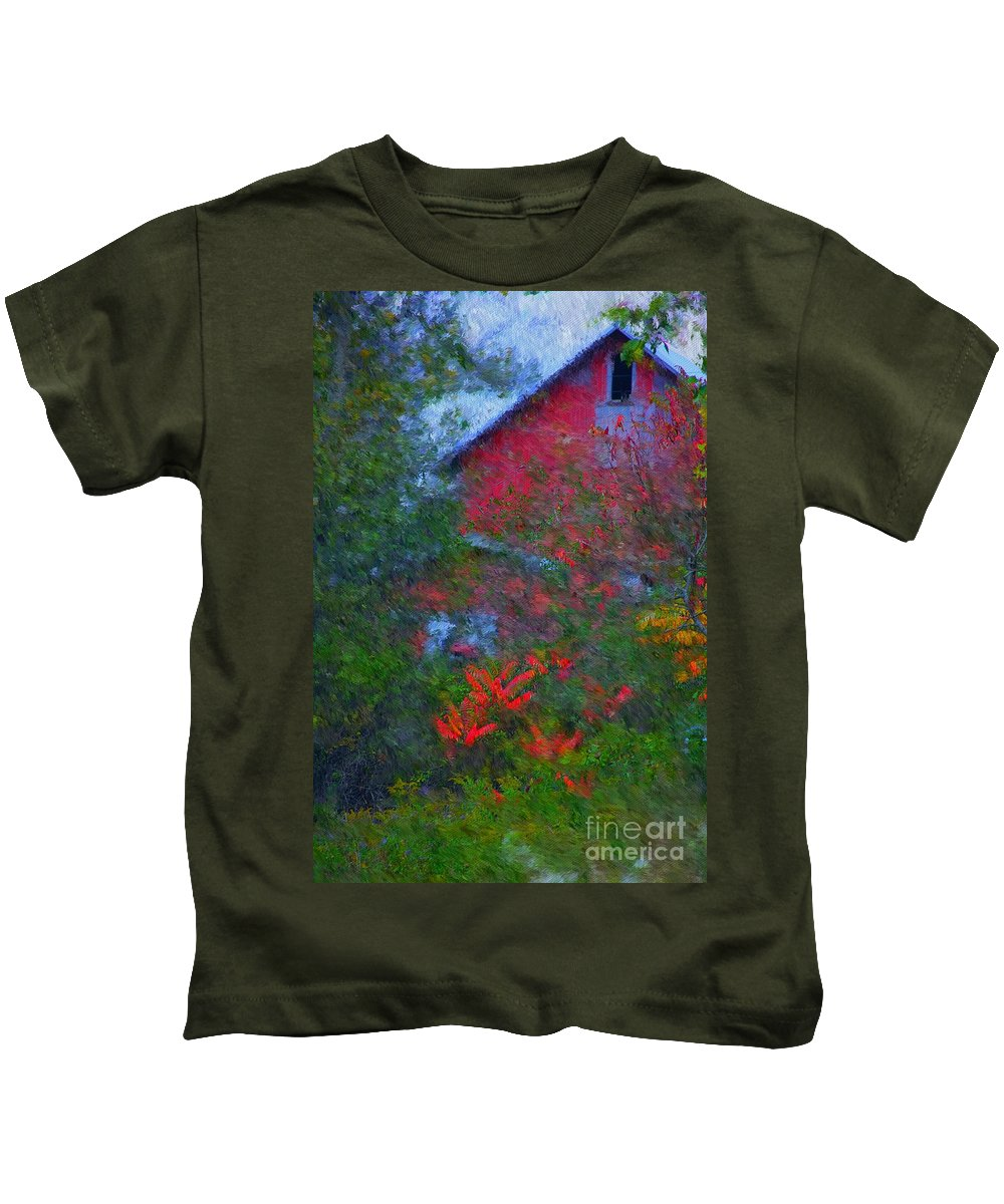 Digital Photo Kids T-Shirt featuring the photograph The Barn by David Lane