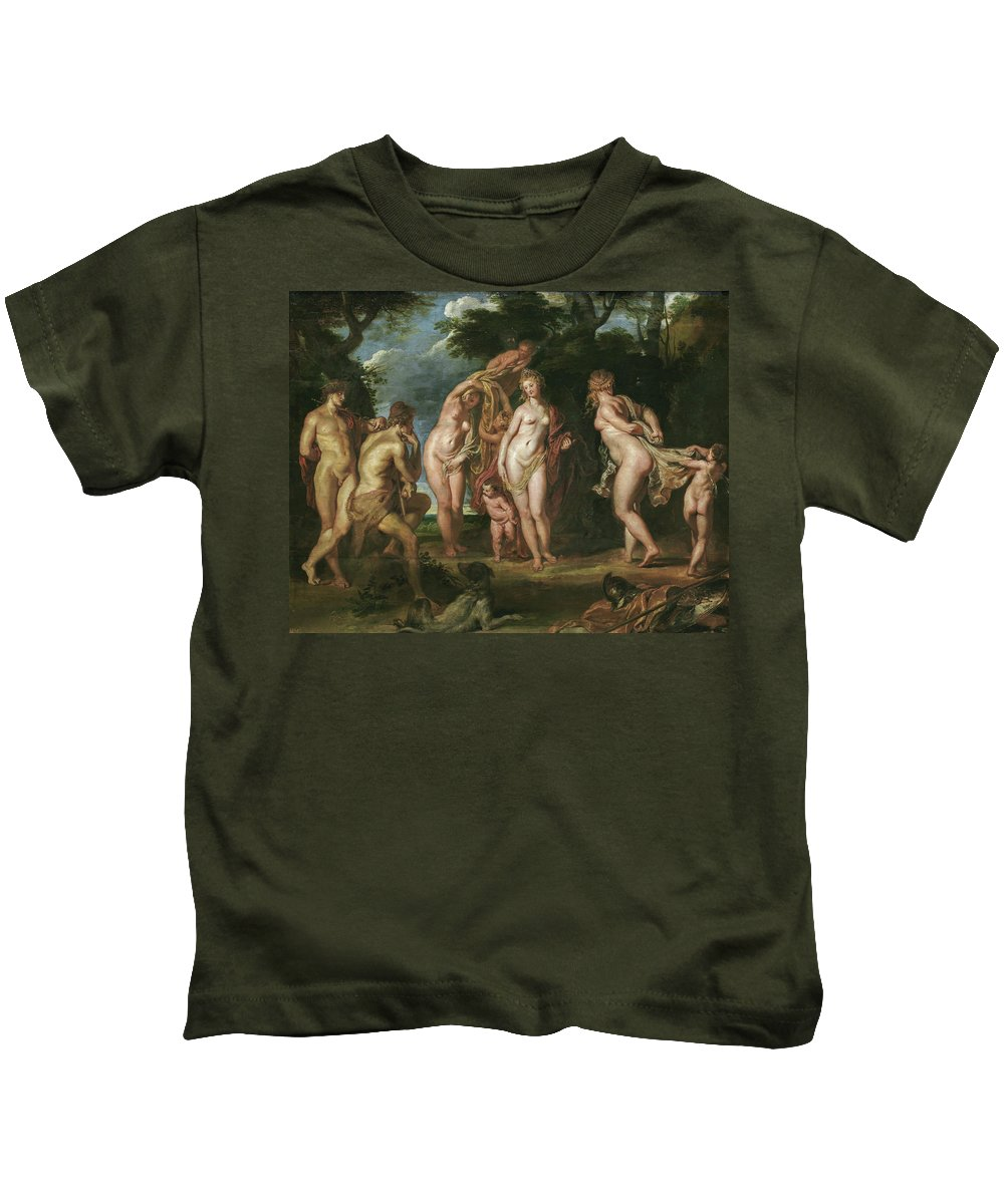Animal Kids T-Shirt featuring the painting The Judgment Of Paris by Peter Paul Rubens