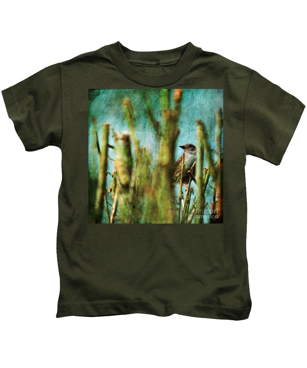 Thrush Kids T-Shirt featuring the photograph The Thrush by Angel Ciesniarska