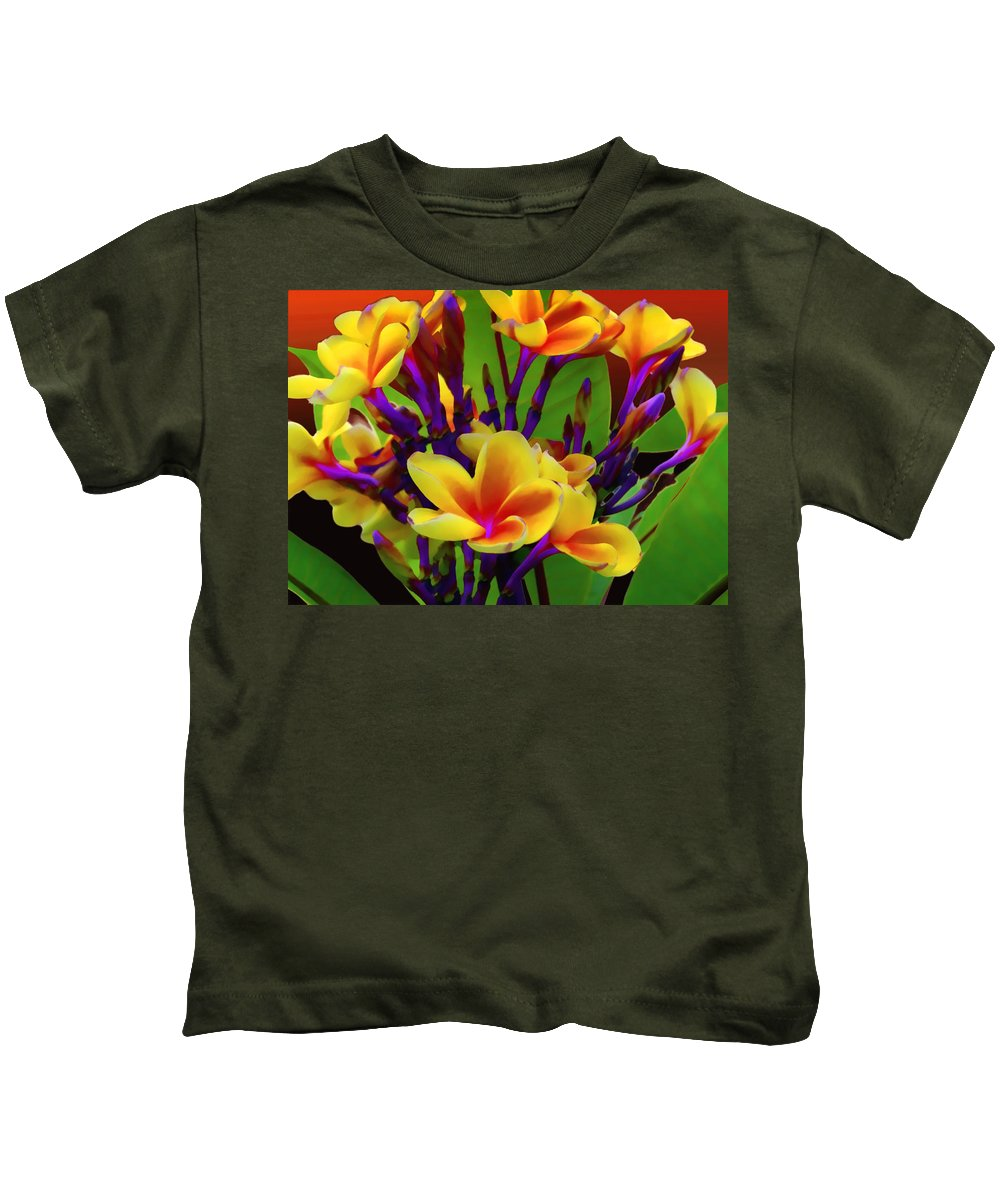 Flower Kids T-Shirt featuring the photograph Tropical Warmth by Stephen Anderson