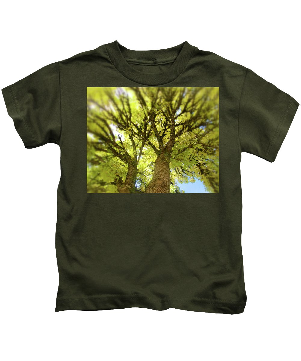 Twin Trees Kids T-Shirt featuring the photograph Twin Trees by Bonnie Bruno