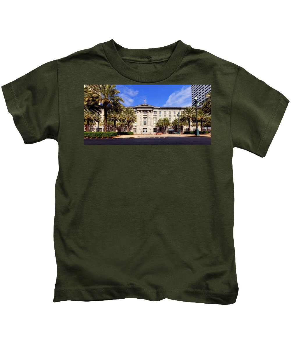 New Orleans Kids T-Shirt featuring the photograph U S Custom House - New Orleans by Mountain Dreams