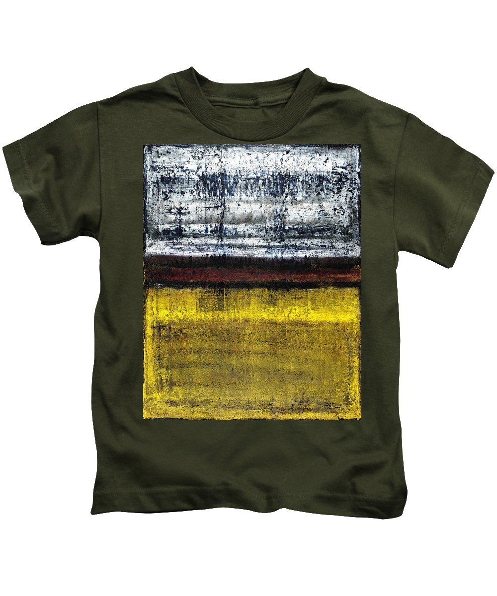 Yellow Kids T-Shirt featuring the painting Untitled No. 18 by Julie Niemela