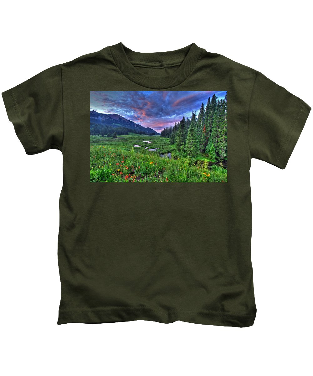 Photo Kids T-Shirt featuring the photograph Valley View by Scott Mahon