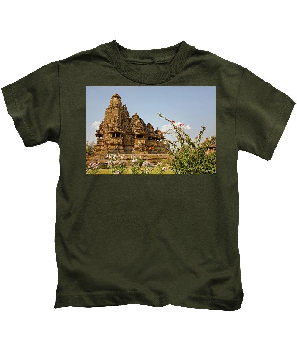 Vishvanatha Temple Kids T-Shirt featuring the photograph Vishvanatha Temple In Khajuraho by Aivar Mikko
