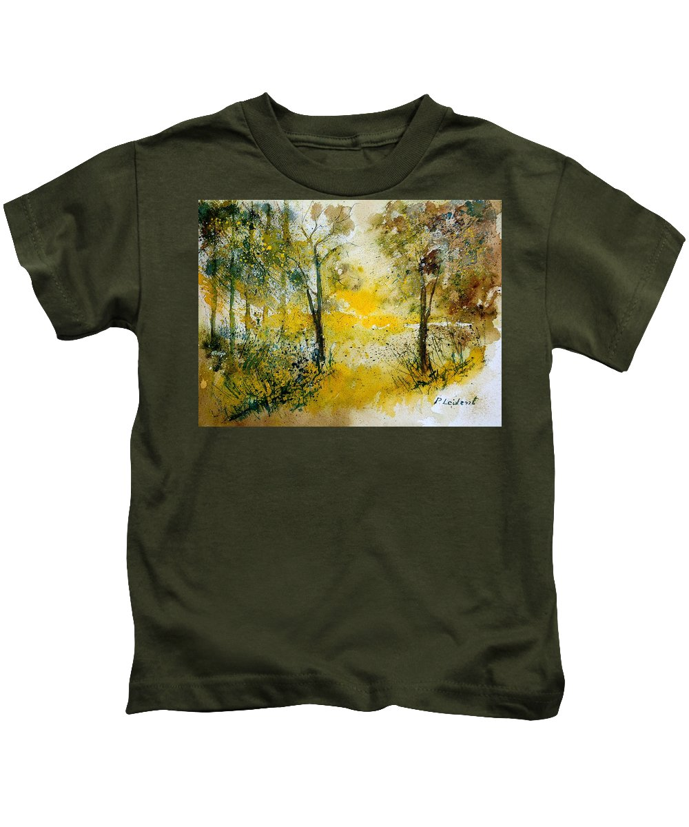 Tree Kids T-Shirt featuring the painting Watercolor 210108 by Pol Ledent