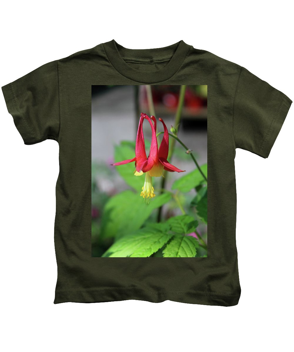 Columbine Kids T-Shirt featuring the photograph Wild Angel by Michiale Schneider