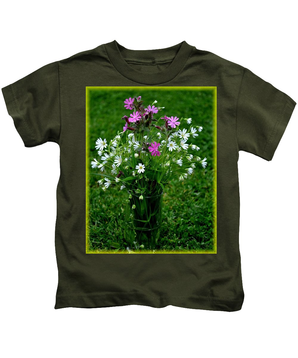 Flowers Kids T-Shirt featuring the photograph Wild Flowers by Pol Ledent