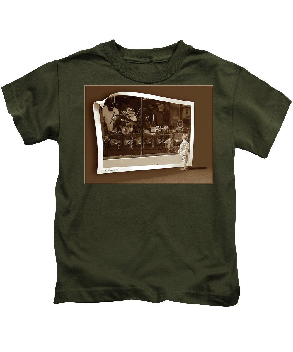 2d Kids T-Shirt featuring the photograph Window Dreaming by Brian Wallace