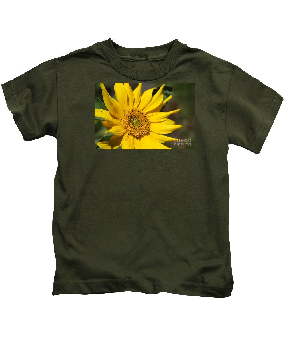 Sunflower Kids T-Shirt featuring the photograph Yellow Sunflower by Christiane Schulze Art And Photography
