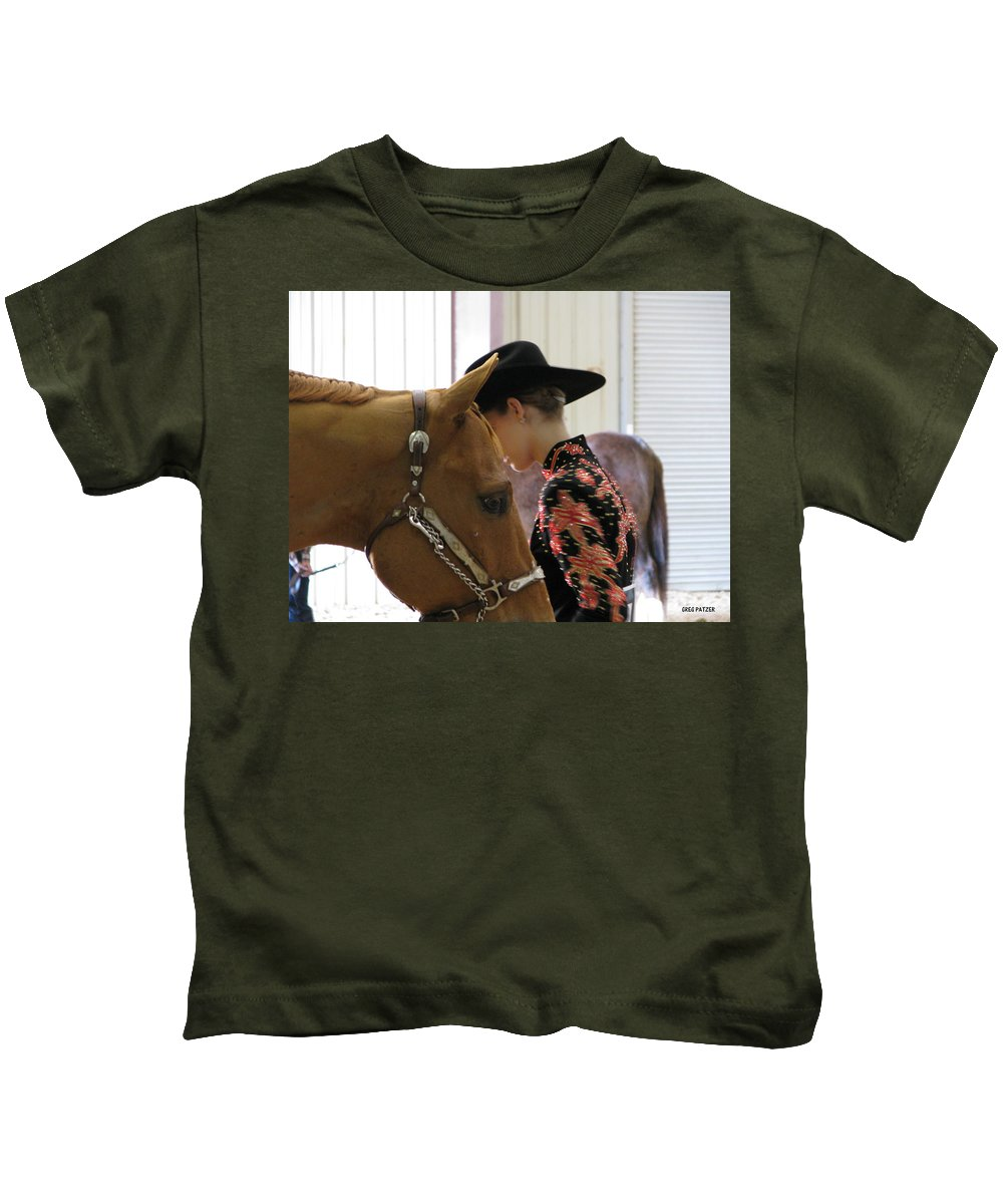 Patzer Kids T-Shirt featuring the photograph You Pray I Pray by Greg Patzer