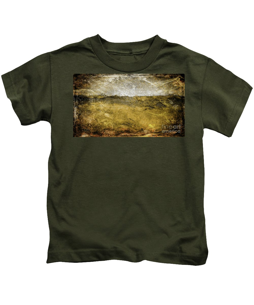 Abstract Kids T-Shirt featuring the painting 10b Abstract Expressionism Digital Painting by Ricardos Creations