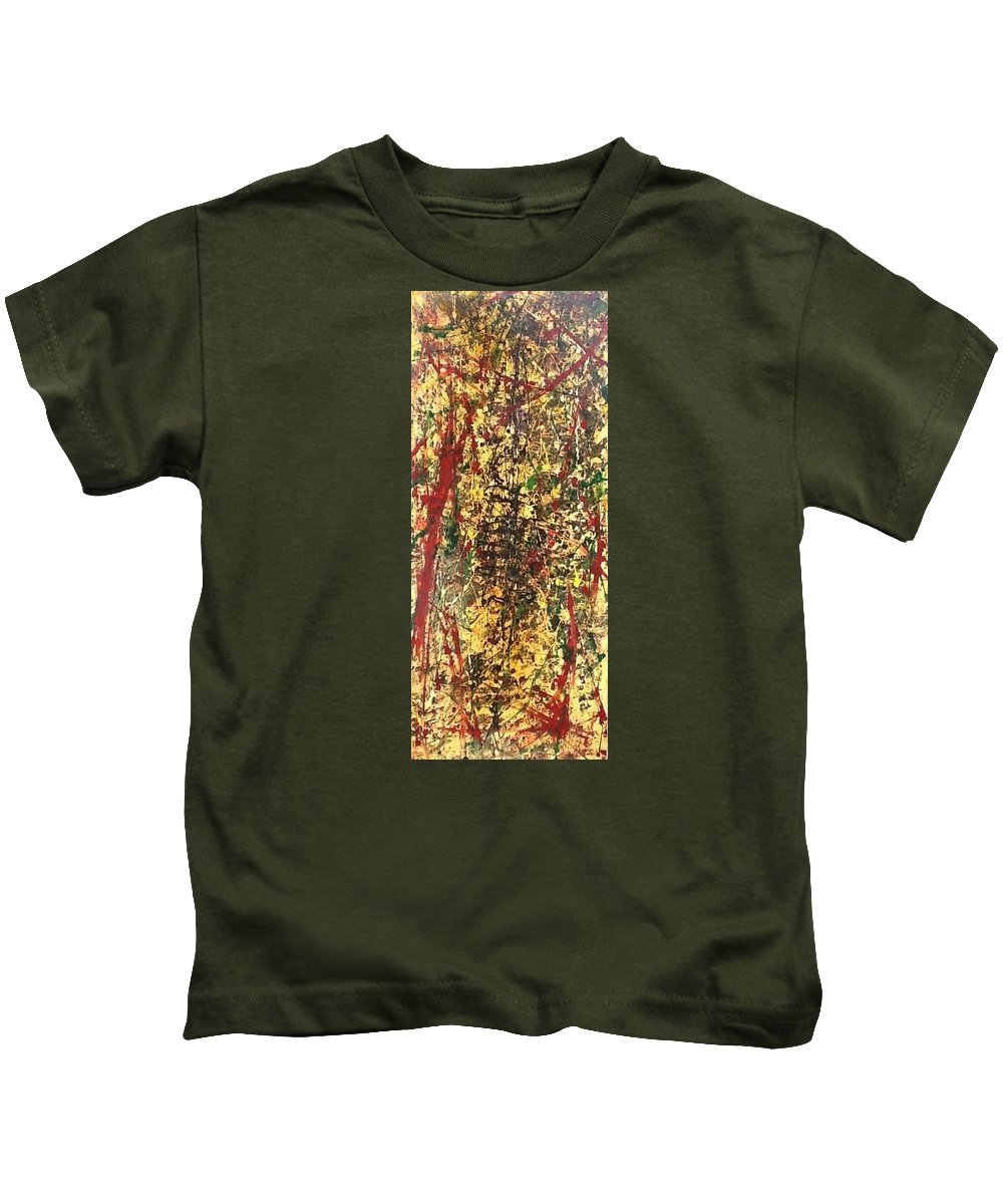 Kids T-Shirt featuring the painting Abstract by Reginald Henry