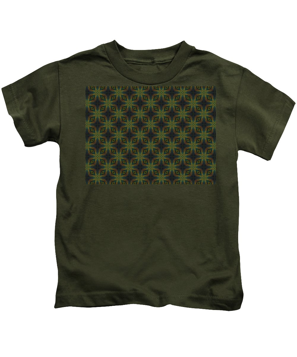 Marjan Mencin Kids T-Shirt featuring the digital art Arabesque 006 by Marjan Mencin
