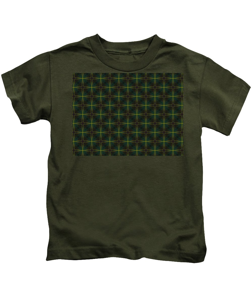 Marjan Mencin Kids T-Shirt featuring the digital art Arabesque 003 by Marjan Mencin