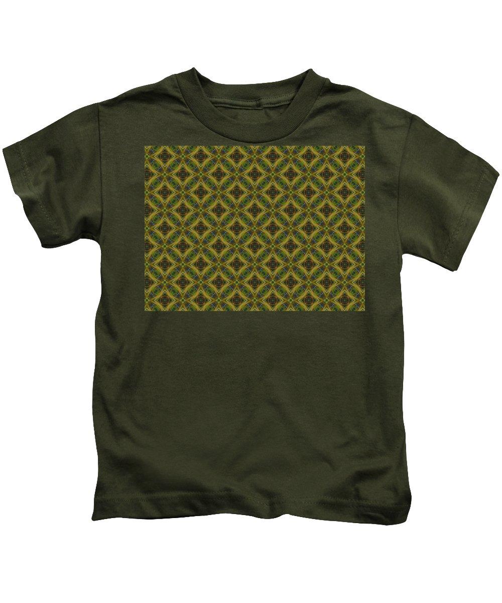 Marjan Mencin Kids T-Shirt featuring the digital art Arabesque 048 by Marjan Mencin