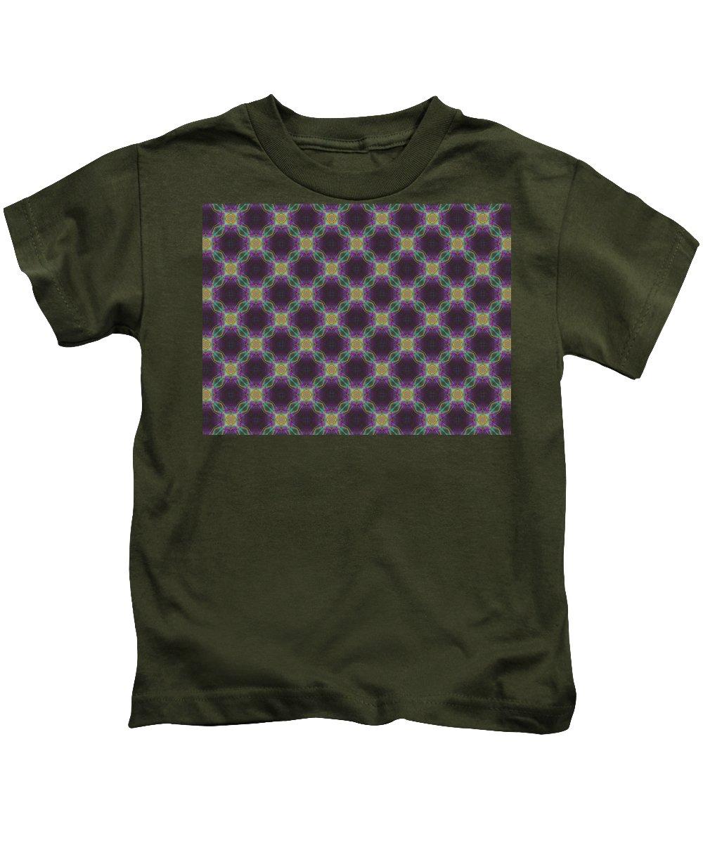 Marjan Mencin Kids T-Shirt featuring the digital art Arabesque 045 by Marjan Mencin
