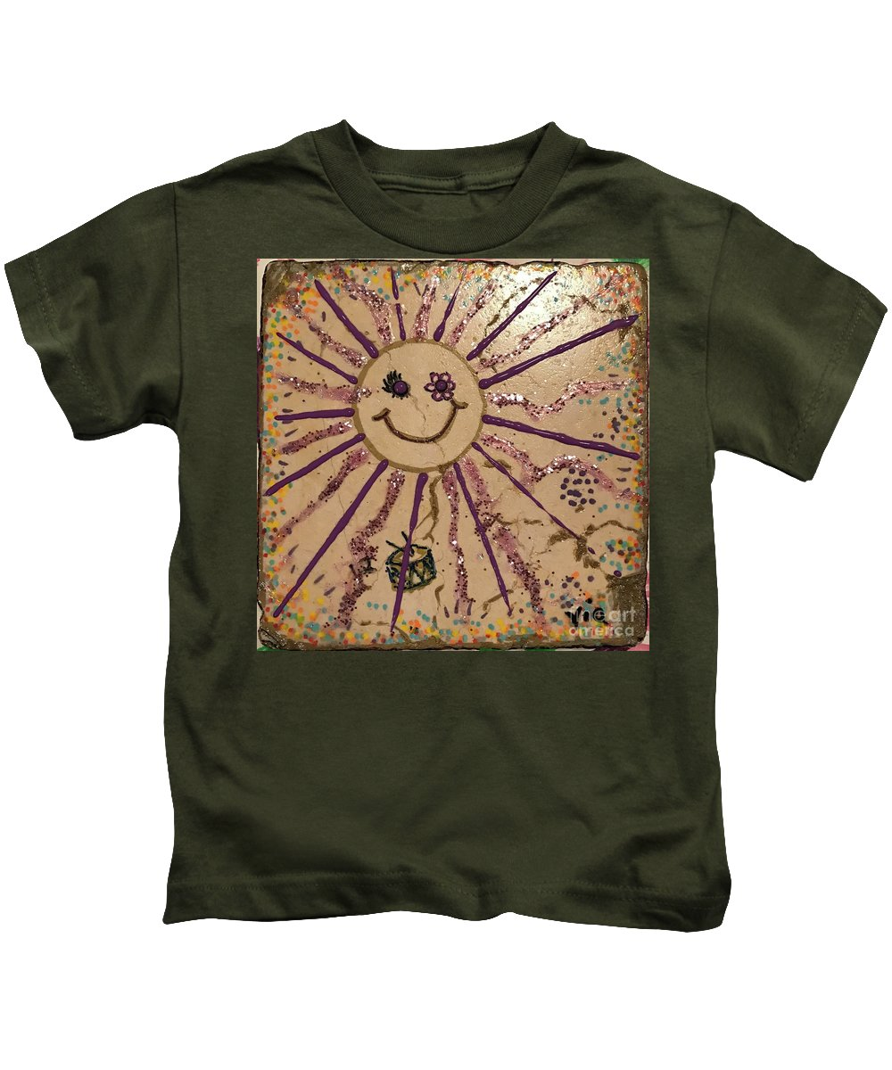 Kids T-Shirt featuring the mixed media 12th Day Of Christmas by Maria Pancheri