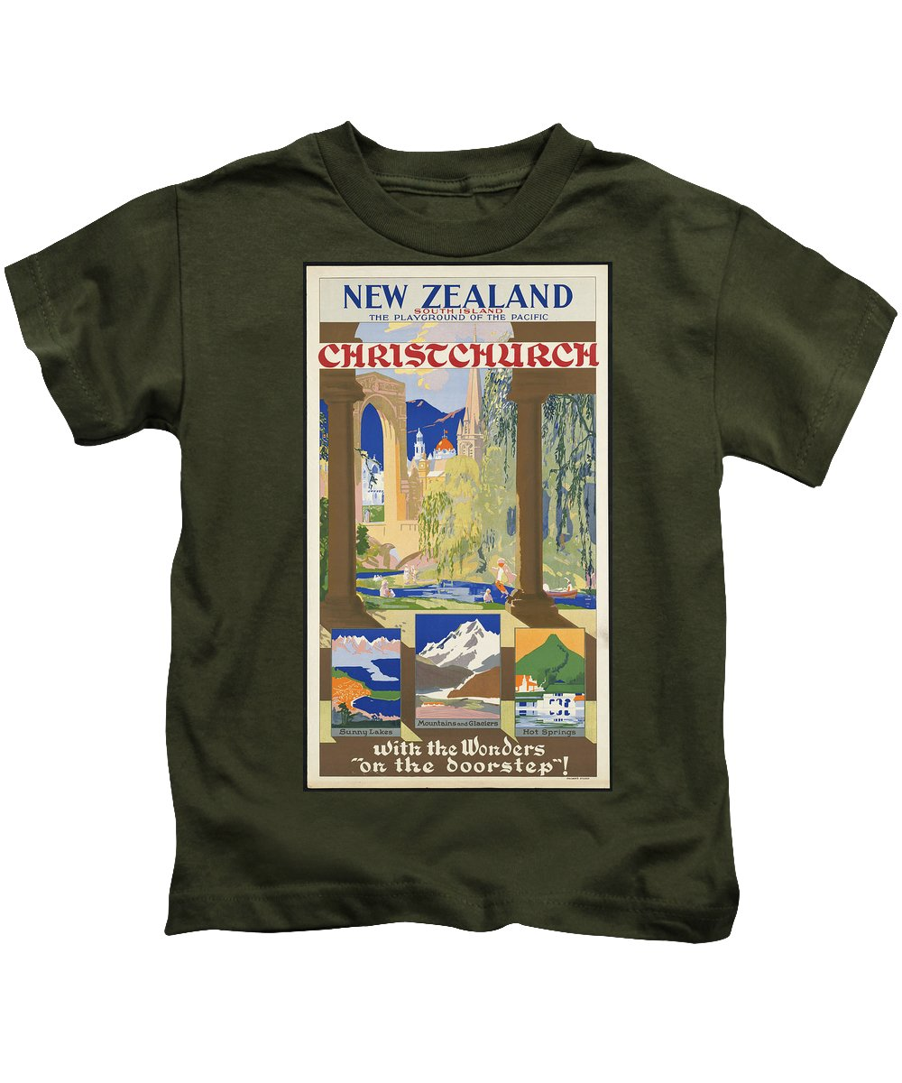 Public-domain-images-free-vintage-posters-0060 Kids T-Shirt featuring the painting Public Domain Images by MotionAge Designs