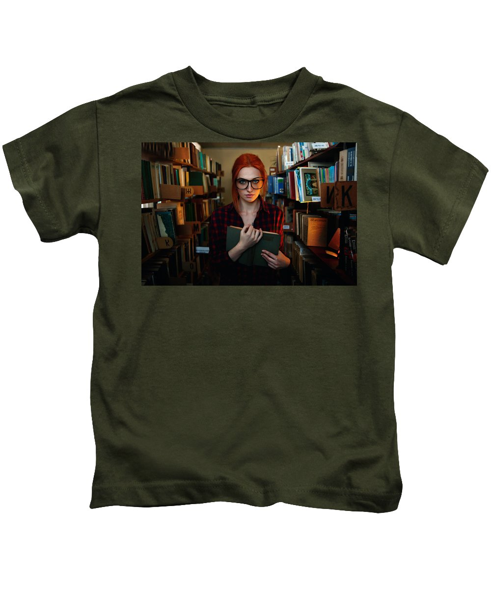 Model Kids T-Shirt featuring the digital art Model by Dorothy Binder