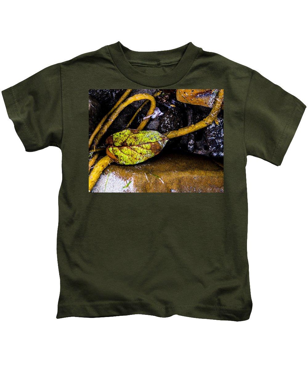 Kids T-Shirt featuring the photograph Private Beach Bastendorff by Angus Hooper Iii