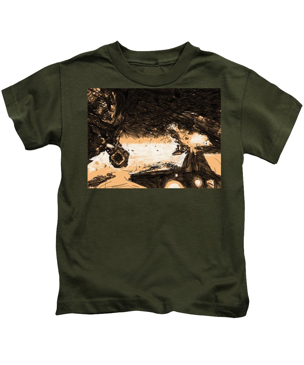 Star Wars Kids T-Shirt featuring the digital art Star Wars Episode 6 Art by Larry Jones