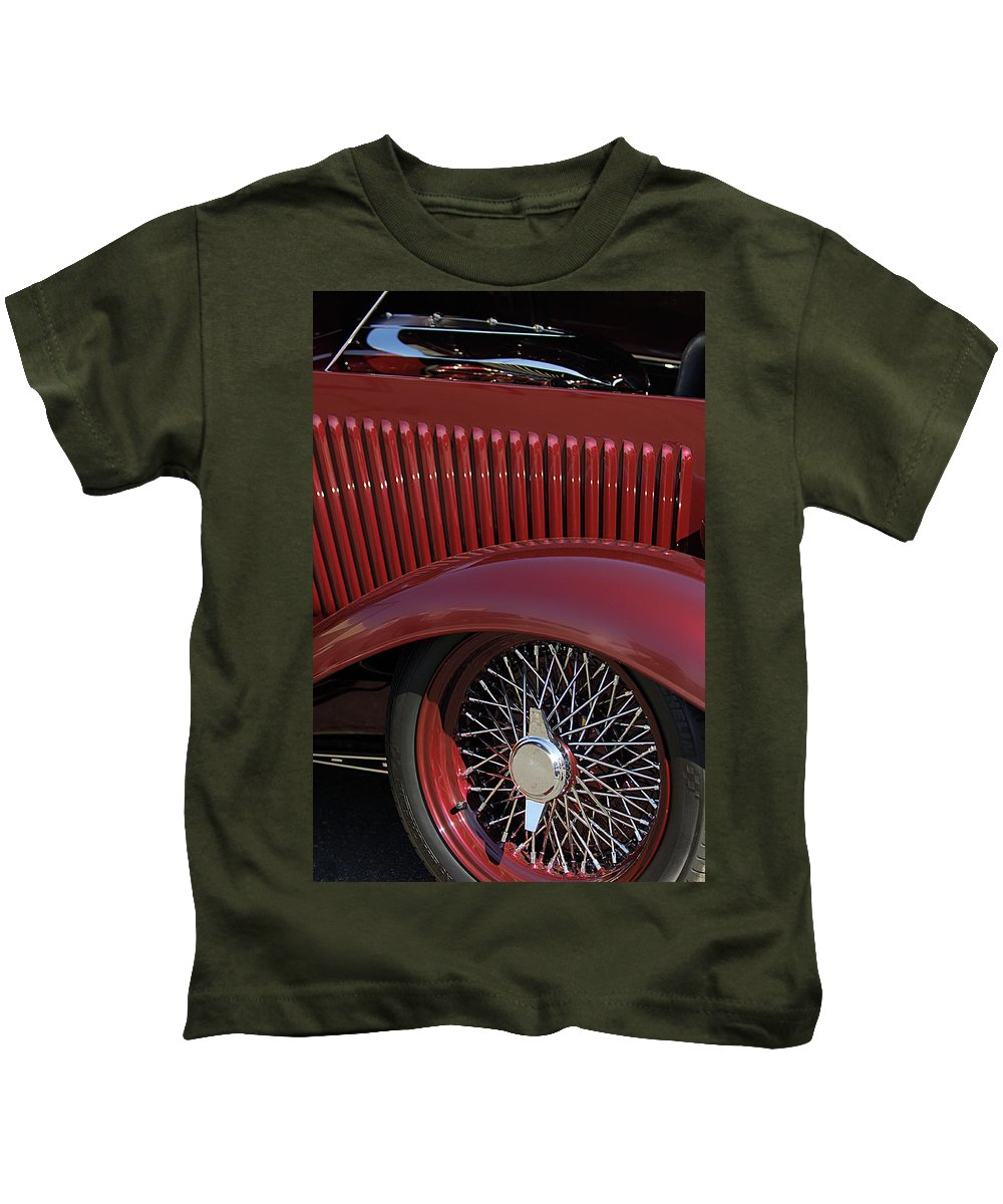 1932 Ford Kids T-Shirt featuring the photograph 1932 Ford Hot Rod Wheel by Jill Reger