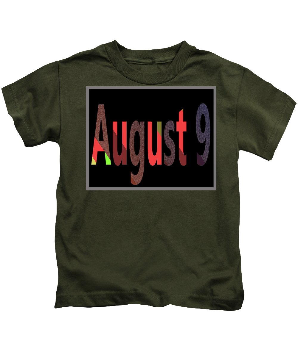 August Kids T-Shirt featuring the digital art August 9 by Day Williams