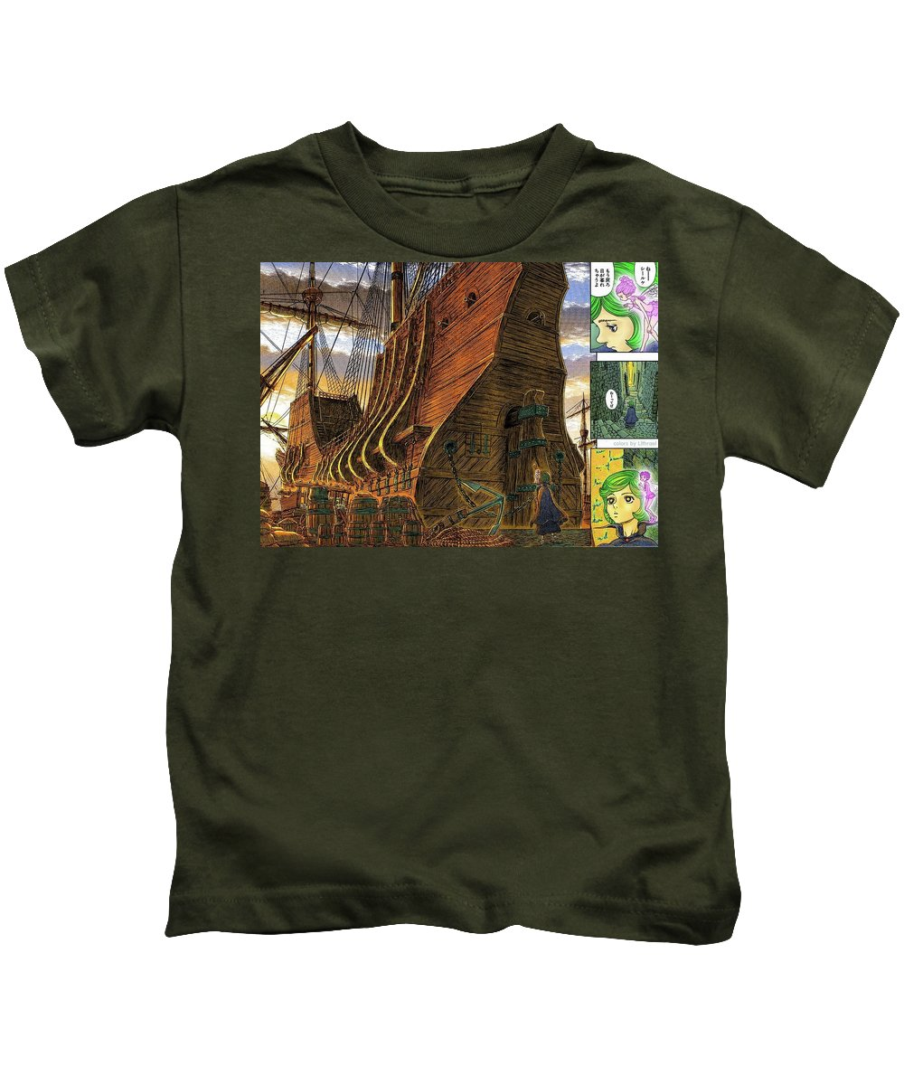 Berserk Kids T-Shirt featuring the digital art Berserk by Dorothy Binder