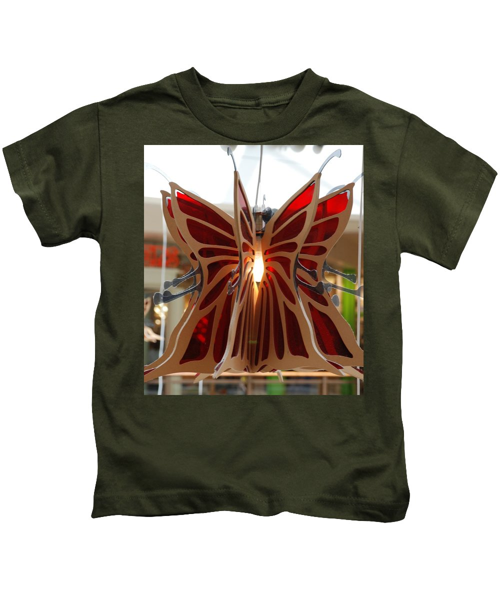 Butterfly Kids T-Shirt featuring the photograph Hanging Butterfly by Rob Hans