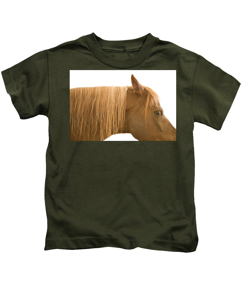 Animal Kids T-Shirt featuring the photograph Horse Portrait by Ian Middleton